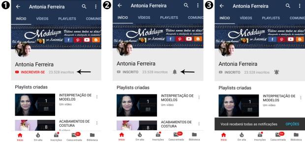Como se inscrever no canal e ativar o sininho no Youtube pelo celular