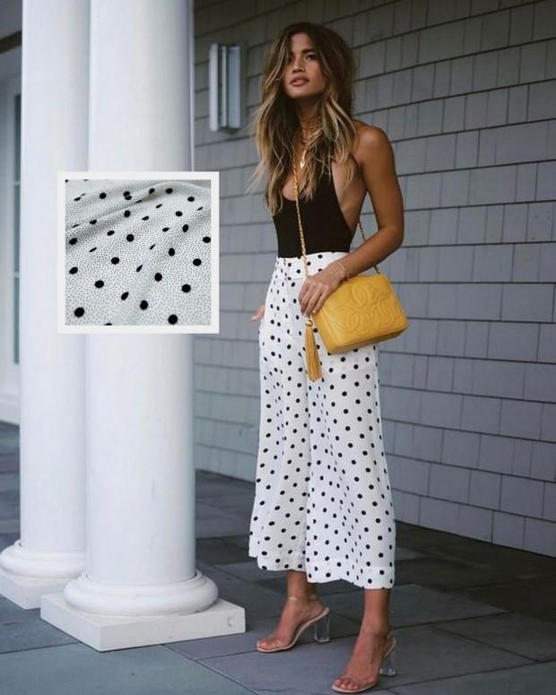 Um dos 5 tecidos mais usados no verão: Crepe de caimento leve