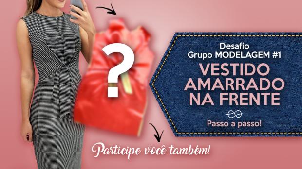 modelagem e costura do vestido amarrado na frente por Antonia Ferreira